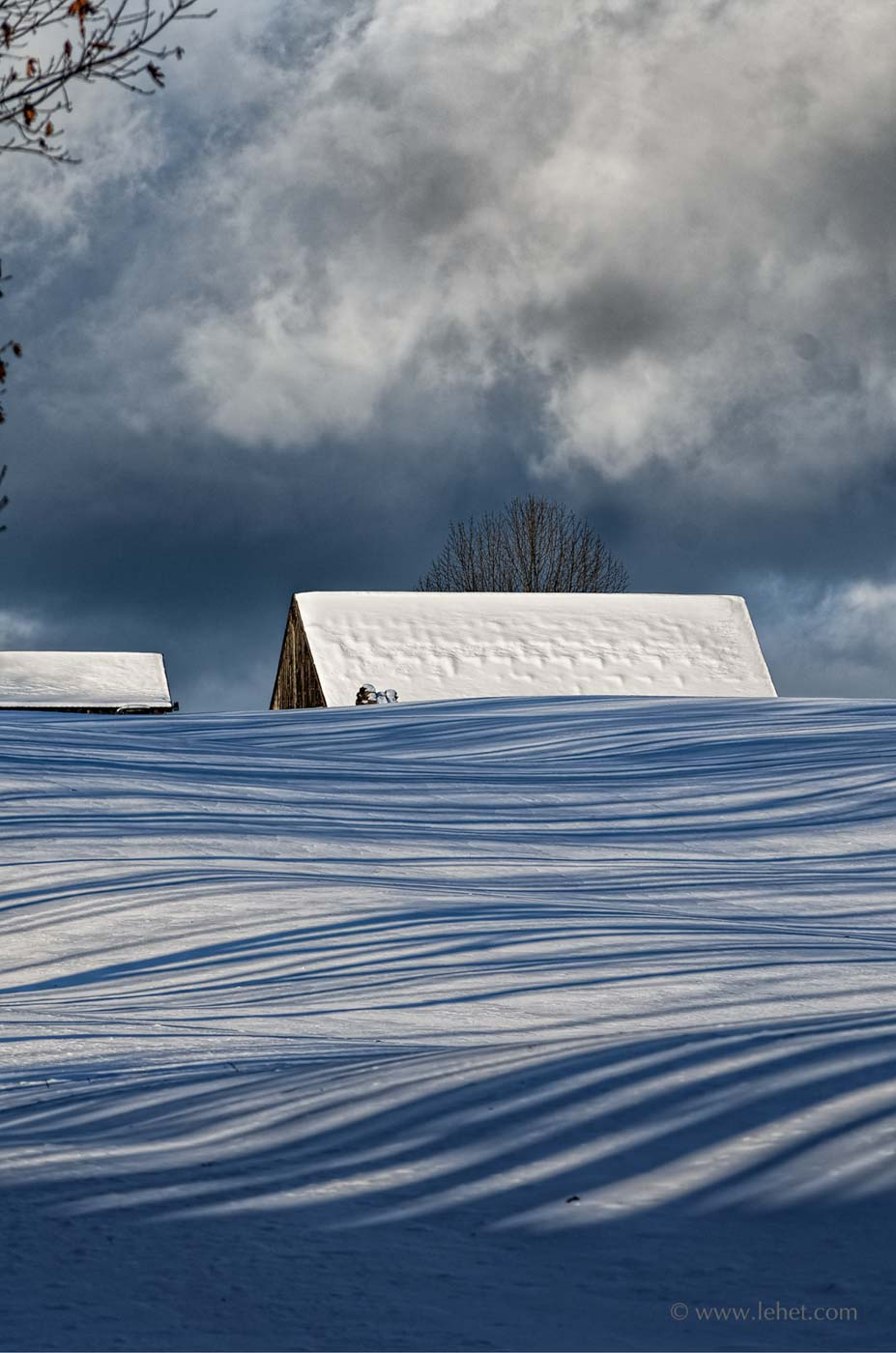 Featured Photo on Your Daily Photograph Snow Shadows Vermont