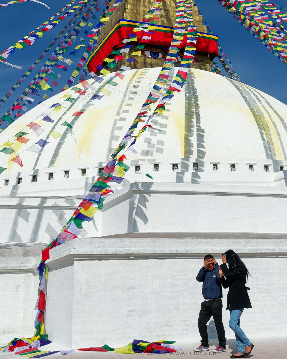 Couple at Boudhanath, Nepal