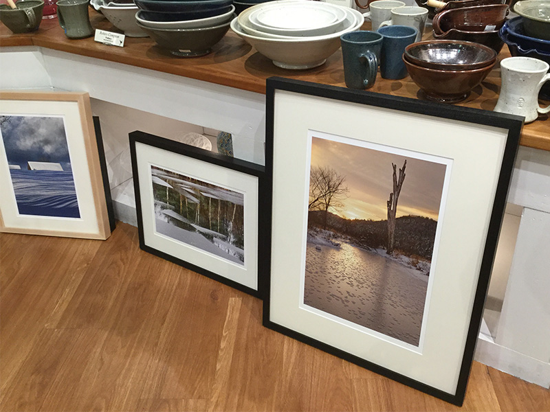 John Lehet framed prints in Frog Hollow Gallery
