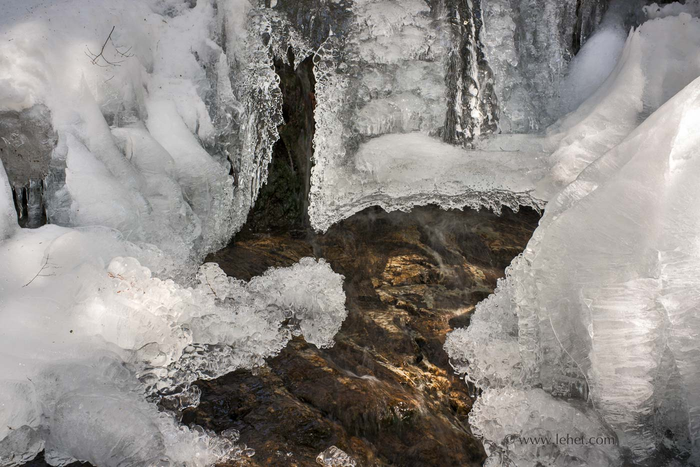 Little Cascade Falls Frozen, Ascutney Mountain
