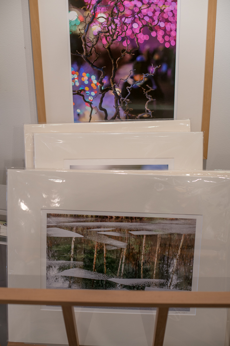 Matted Prints in Rack