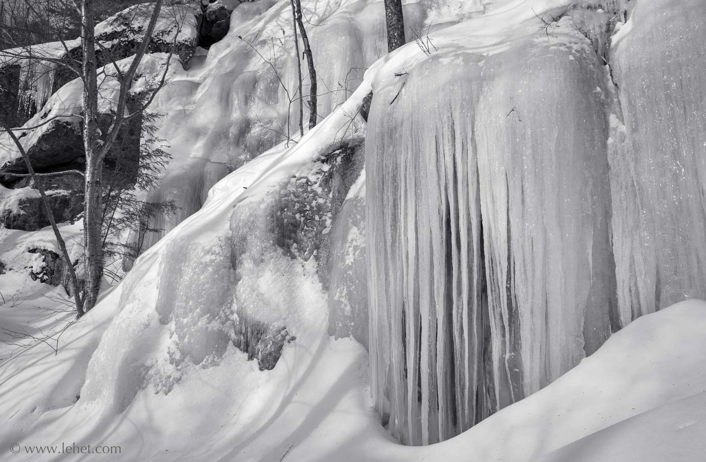 Icicles on Cliff, Mt Ascutney Vermont