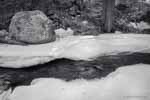 Single Boulder and Stream, Ice