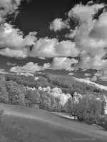 Sun on Spring Hillsides, Infrared