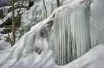 Cliff Icicles on Mt Ascutney, Color