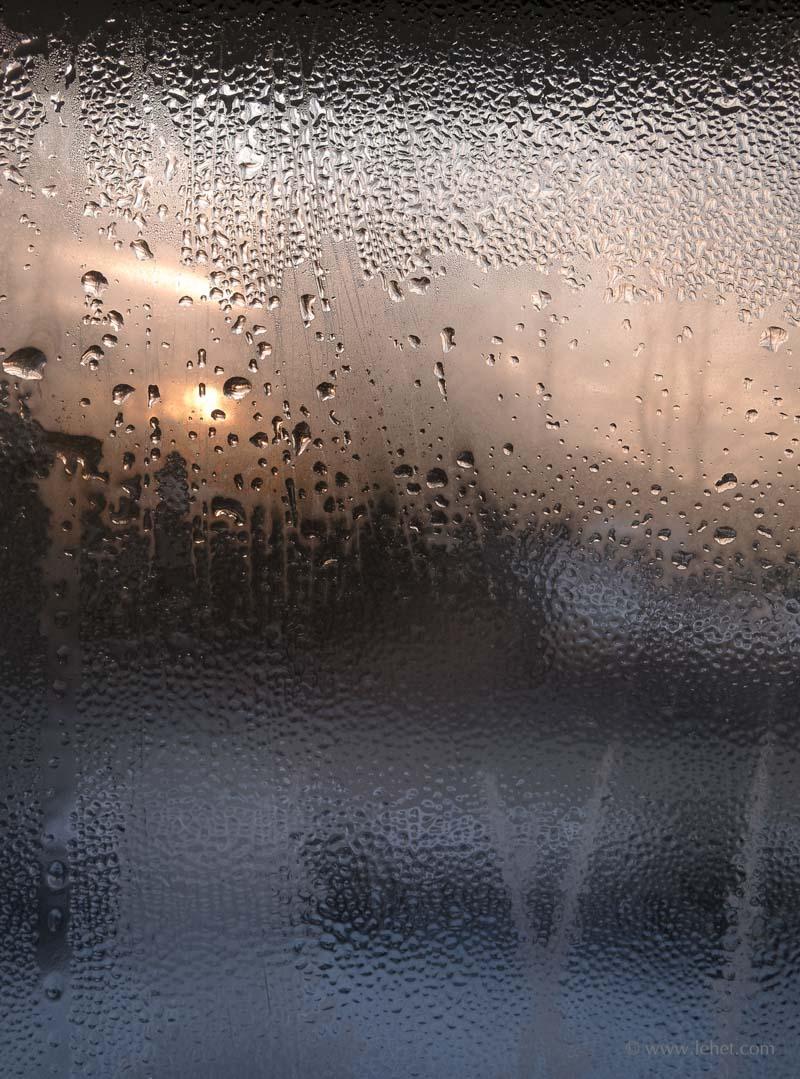 ice on winter window vermont